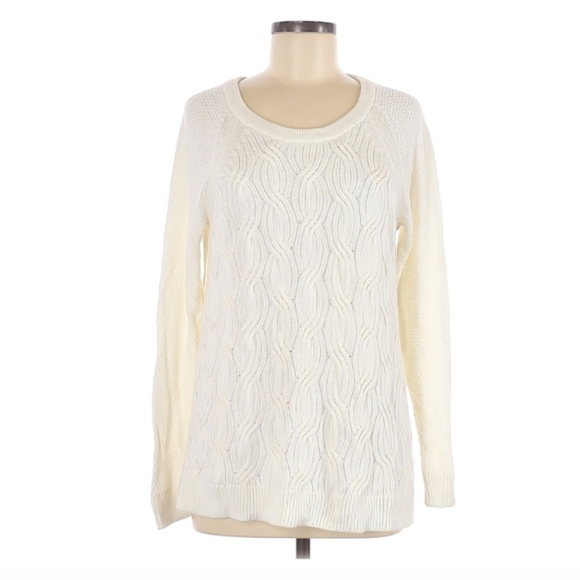Sonoma | NWOT Cream Cableknit Sweater Large